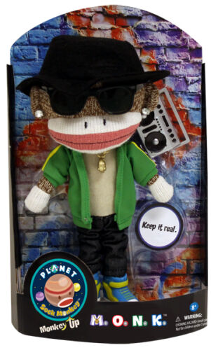 M.O.N.K. Sock Monkey Doll NEW PATCH Products 5933