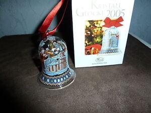 Hutschenreuther-Weihnachten-KRISTALLGLOCKE-2005-in-OVP-Weihnachtsglocke-aus-Glas