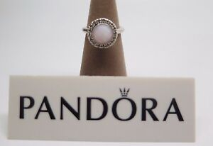 6949f9f40 New w/ Hinged Box Pandora Sugar & Spice Pink Opal Ring # 190617POP ...