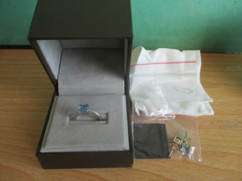 'blue Stone' ~ Ring & Earring Set ~ *new* ~ Never Used.