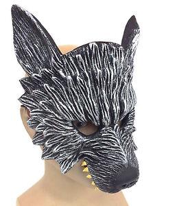 Image is loading Deluxe-Latex-Wolf-Mask-Beast-Werewolf-Cosplay-Halloween-  sc 1 st  eBay & Deluxe Latex Wolf Mask Beast Werewolf Cosplay Halloween Costume ...