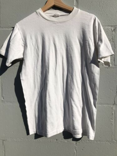 Vintage 60s Blank t shirt Towncraft Penneys White