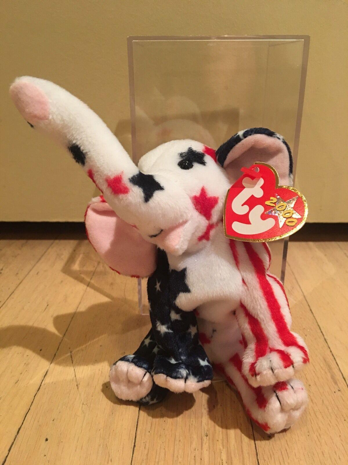 klar  der republikanischen elefanten - ty beanie baby - minze - rentner