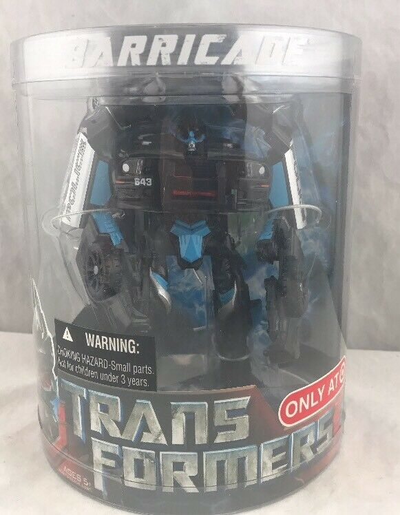 Transformers 2007 Movie Deluxe Target Exclusive Canister Barricade MISB