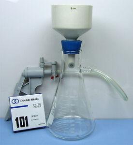 1000-mL-FILTRATION-FLASK-BUCHNER-FUNNEL-VACUUM-PUMP-Filtration-Set