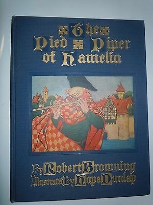 The Pied Piper of Hamelin 1928 Browning Dunlap Rand McNally HC no dustjacket EUC