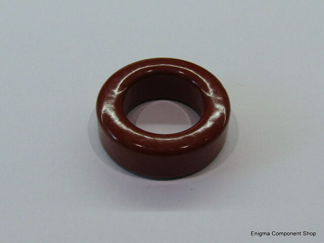 T130-2 Red Ferrite Ring Toroid. MICROMETALS. Trusted UK Seller - Fast Dispatch.