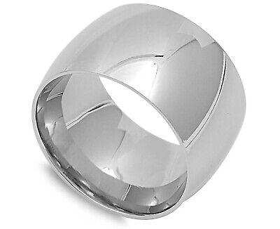 Stainless steel Promise Ring Men Women 12mm Bulky Wide Plain Band Stainless Steel Wedding Band Men Women Stainless Steel Band Ring