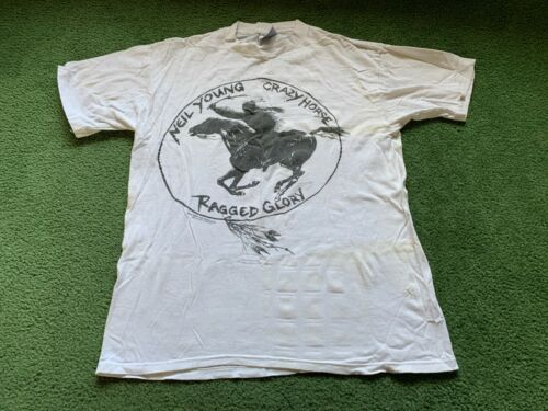 VINTAGE 1991 NEIL YOUNG CRAZY HORSE RAGGED GLORY T