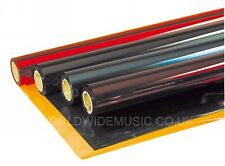 """1 Filter Gel Sheet 48"""" X 21"""" Stage Lighting Filters - Choice of over 25 Colours"""