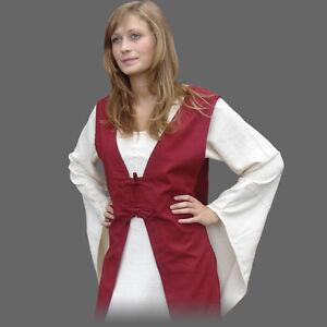 Uberkleid-Mittelalter-Kleid-S-XXXL-rot-braun-Mittelalterkleid-Mittelalter-Gewand