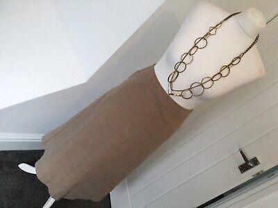 Gentile Jigsaw Taupe Beige Scuro Una Linea Gonna Midi Biancheria £ 98 Indossata Una Volta Taglia 8 Sfoderato-mostra Il Titolo Originale