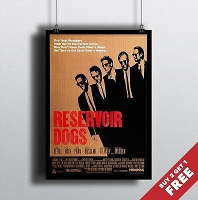 A4 Tarantino/'s Cult Classic Movie Art Print Home Deco RESERVOIR DOGS Poster A3