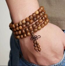 Sandalwood 108 Prayer Bead Mala Bracelet Necklace Buddhist Buddha Meditation 8mm