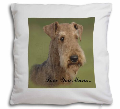 Airedale Terrier Dog /'Love You Mum/' Soft Velvet Feel Cushion Cove AD-AD1lym-CPW