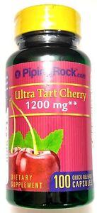 1200mg-Ultra-Tart-Cherry-100-Capsule-4-1-Extract-Antioxidant-Gout-Arthritis-Pill