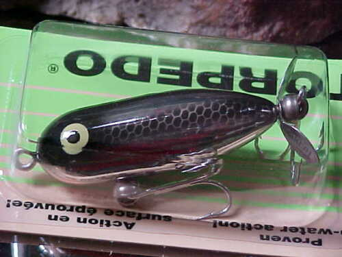 """Heddon 1 7//8/"""" TINY TORPEDO 1//4oz Topwater X0360NBL a Fly or Lite Casting Lure"""