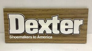 Vintage 1970s Dexter Shoes Wooden & Plastic Shoemakers to America Sign Display