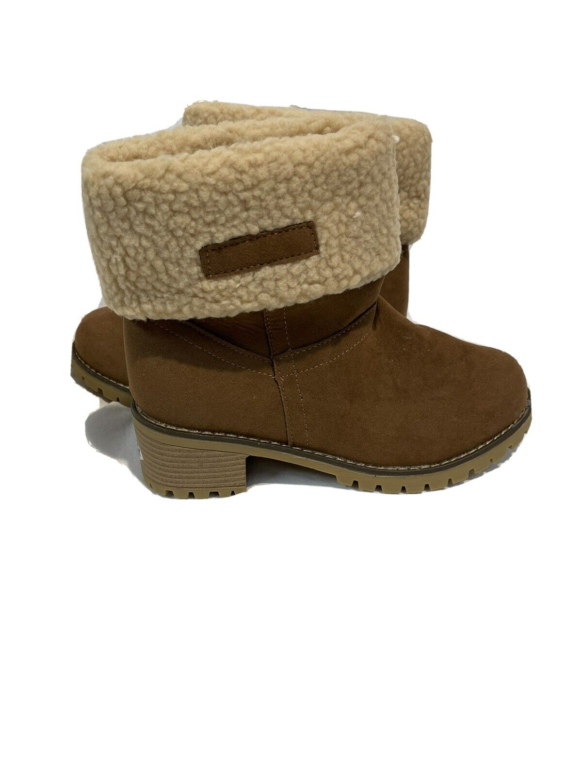 Tiosebon Womens Size 9 Boots With Fur Cuff Brand New With Box Tan Faux Suede