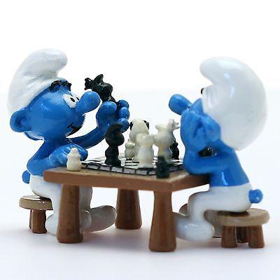 Vendita Professionale Pixi Paris Production 6412 Les Schtroumpfs Joueurs D'echecs Smurfs Smurf 200ex Aspetto Bello