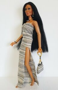 Handmade-Clothes-Gown-beaded-Purse-and-Jewelry-for-vintage-Mego-Cher-NO-DOLL-d4e