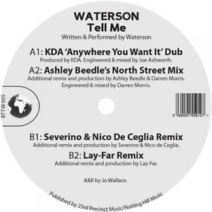Waterson-Tell-Me-VINYL-12-034-Single-2016-NEW-FREE-Shipping-Save-s