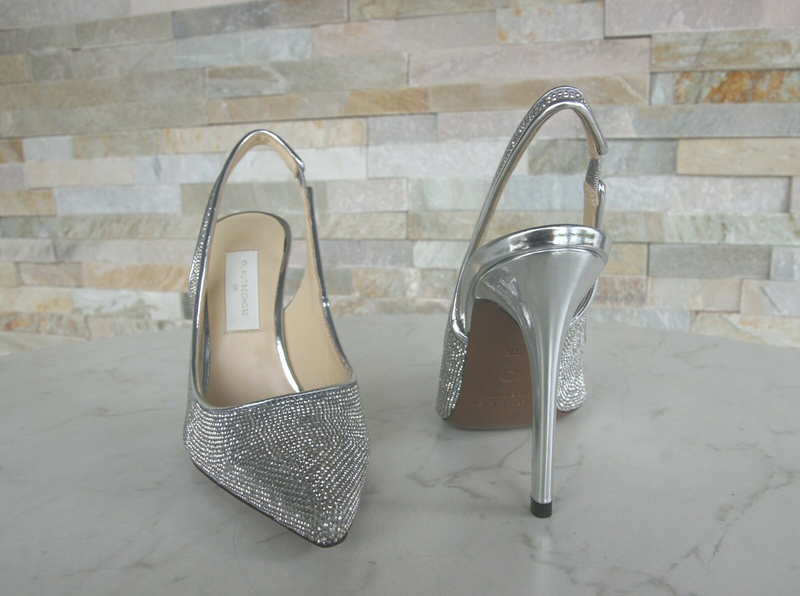 Orig L'AUTRE NEU CHOSE Gr 38 Pumps Slingpumps Schuhe Heels cristall NEU L'AUTRE 5ca678