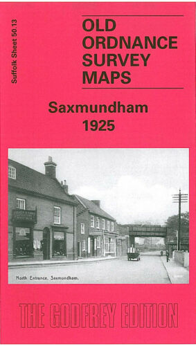 OLD ORDNANCE SURVEY MAP SAXMUNDHAM 1925 SOUTH ENTRANCE WARDSPRING FARM