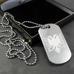 Albanian eagle flag dog tag pendant in a gift box ebay image is loading albanian eagle flag dog tag pendant in a aloadofball Gallery