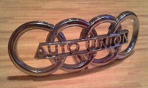 DKW-Auto-Union-Oldtimer-Emblem-NEU-und-Verchromt-mit-2-Gewindebolzen