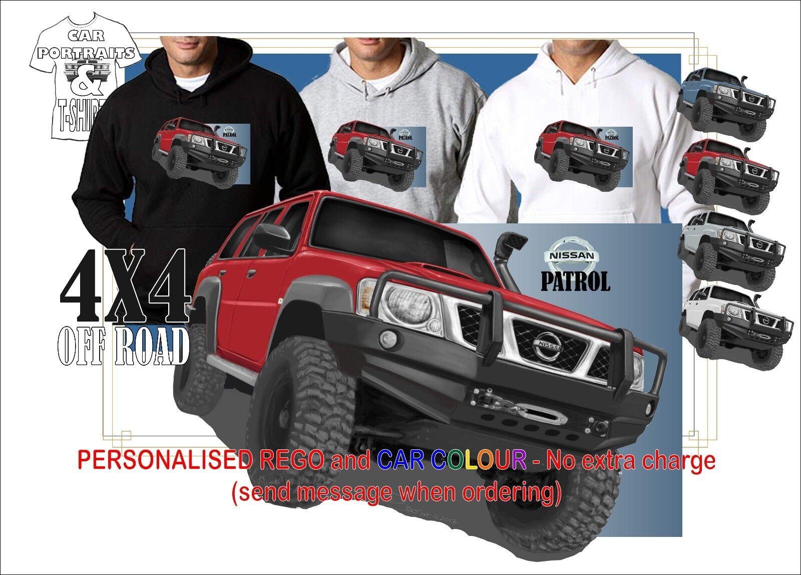 4X4 OFF ROAD 2004-16 Y61 NISSAN GU Mk2 PATROL WAGON HOODIE ORIGINAL ARTWORK