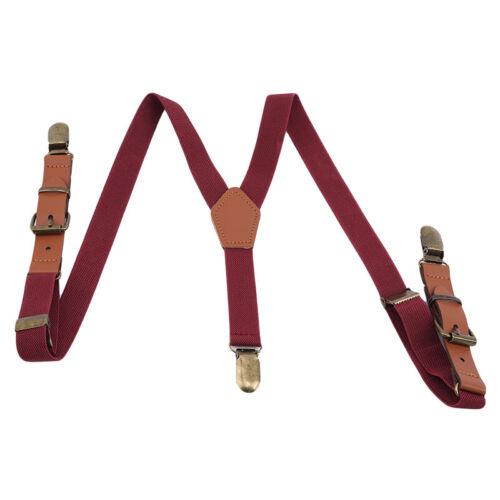 back Suspenders For Kids Child Z Adjustable Clip-on Braces Elastic Suspender Y