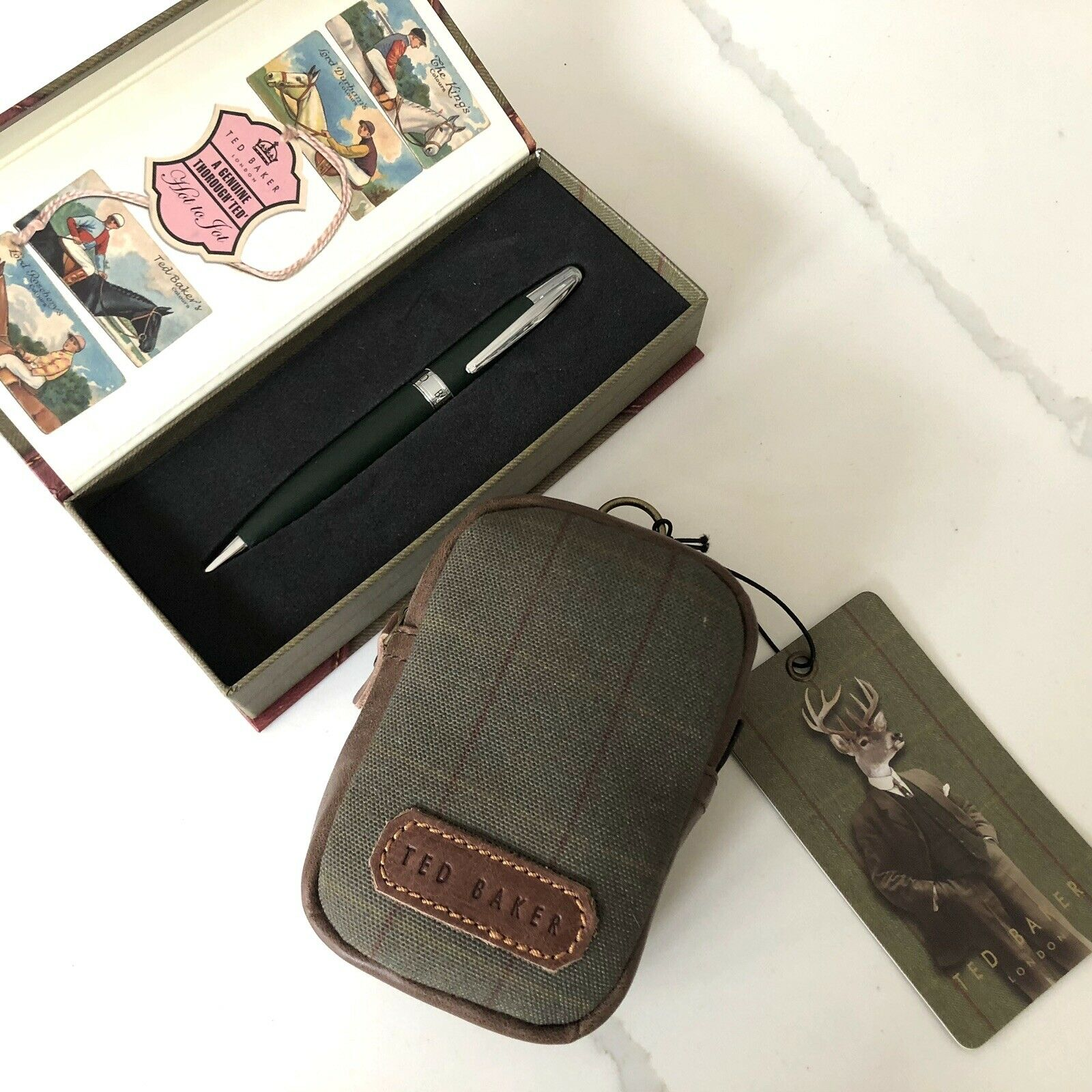 TED BAKER LONDON Ball pen&Neck pouch(set of 2)
