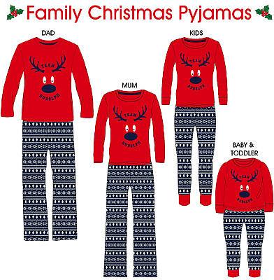 Family Matching Pjs Mens Women Kids Christmas Pyjamas Xmas Nightwear Pjs Sets Geschickte Herstellung