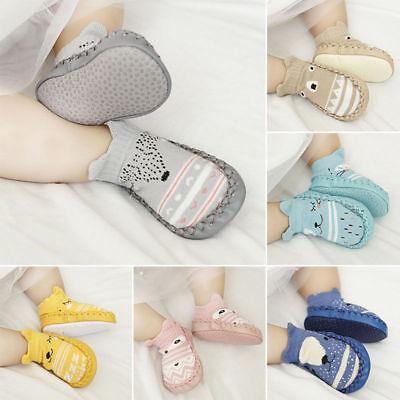 Newborn Baby Girl Boy Cute 3D Cartoon Anti-Slip Floor Socks Slipper Shoes Boots