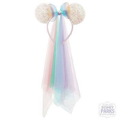 Disney Parks Minnie Mouse Princess Veil Ears Sequin Headband Butterfly sequined