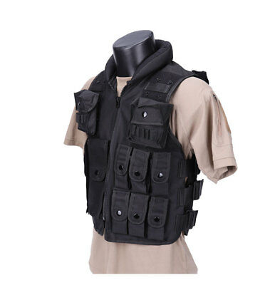 Military CS Vest Molle Airsoft Combat Assault  Gear Assault Plate Carrier Pouch