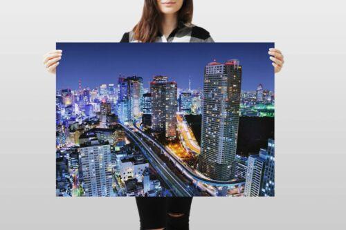 A1Minato Tokyo City Poster Art Print 60 x 90cm 180gsm Japan Travel Gift #8931