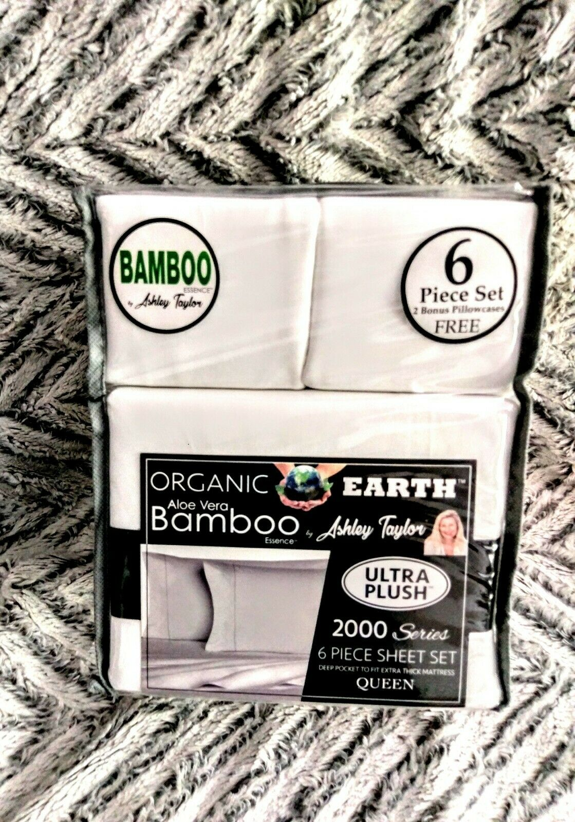 ORGANIC BAMBOO ESSENCE BY ASHLEY TAYLOR BED SHEET SET QUEEN SIZE BED SHEET SET