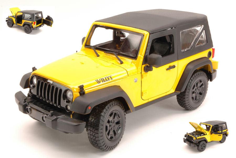 Jeep Wrangler 2014 giallo 1:18 Model MAISTO