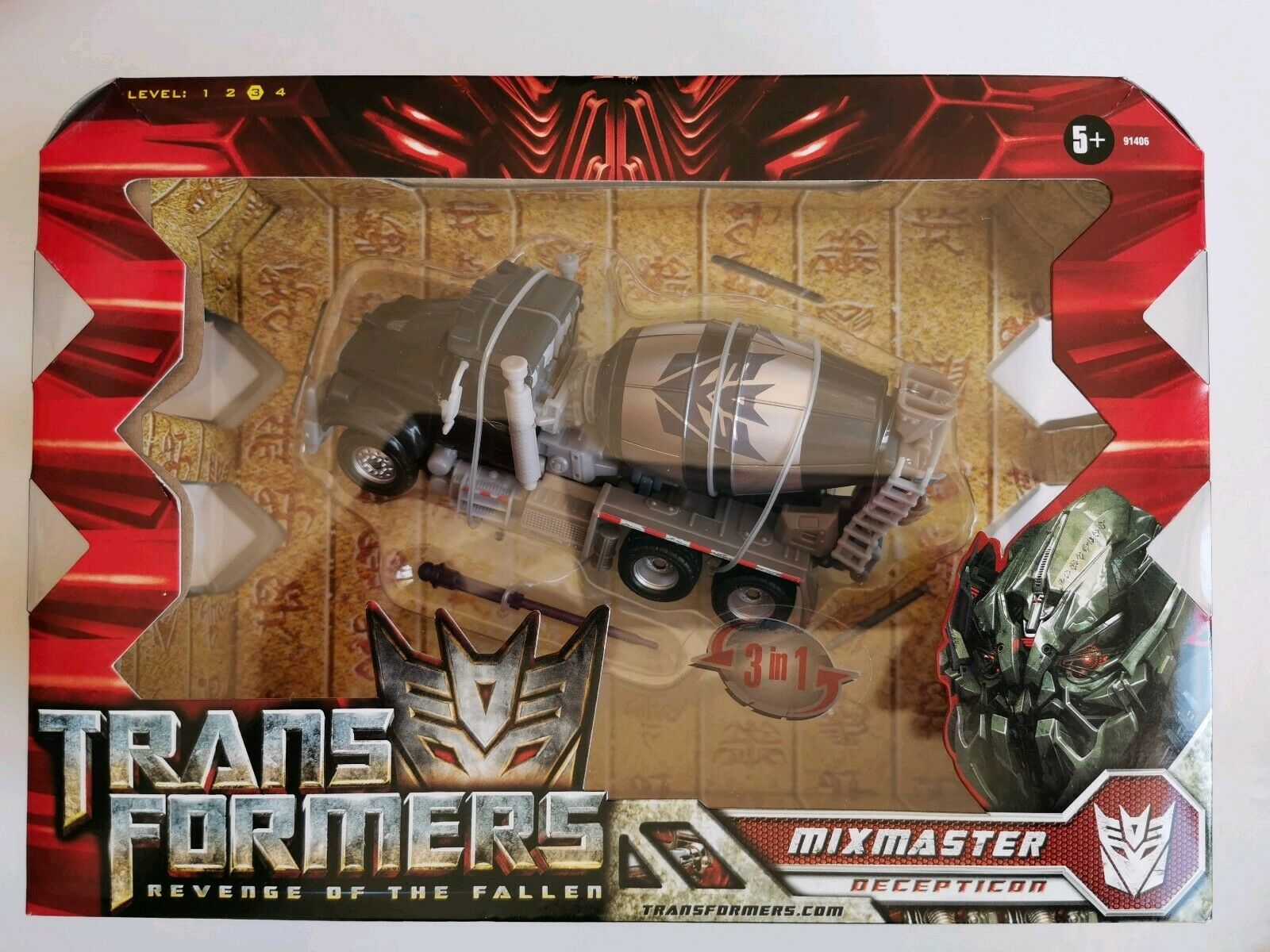 TRANSFORMERS REVENGE OF THE FALLEN ROBOT MIXMASTER DECEPTICON 91406 EN BOÎTE