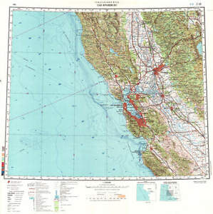 Russian Soviet Military Topographic Maps - SAN FRANCISCO (USA), ed ...