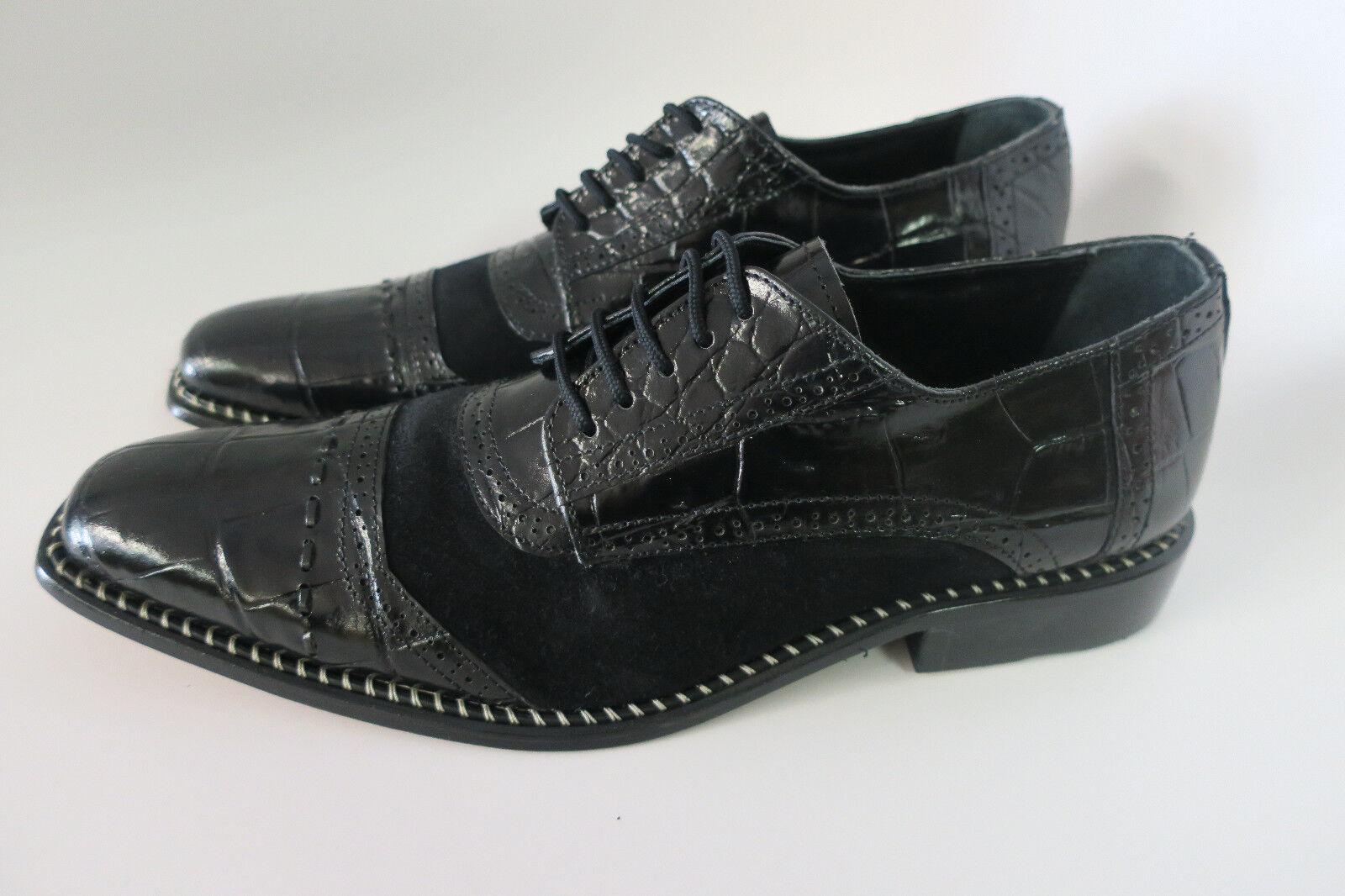 forma unica nero nero nero   nero New Uomo Liberty Leather Liberty 962 scarpe Wing Tips  outlet in vendita