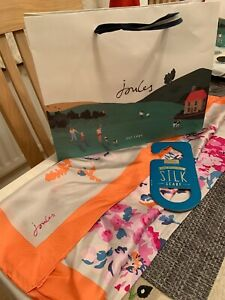 Joules Hand Rolled Edges Silk Scarf