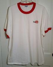Youtube T Shirt Size XL White Red Cotton Gildan