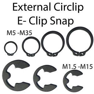 30 x 2.3mm External E Clips Steel Clip Circlip DIN6799 Pack CLIP CIRCLIP DIN6799
