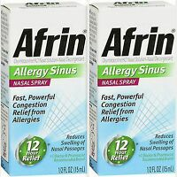 Afrin Allergy Sinus Nasal Spray 15ml ( 2 Pack )