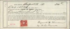 1923 Moro Oregon (OR) Contract Bank of Moro