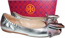 a598c2805234 item 2 Tory Burch Divine Silver Bow Driver Ballerina Flats Ballet Gold Logo  Shoes 9.5 -Tory Burch Divine Silver Bow Driver Ballerina Flats Ballet Gold  Logo ...