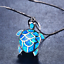 Beautiful-Blue-Fire-Opal-925-Sterling-Silver-Turtle-Necklace-Silver-Chain-50cm thumbnail 1
